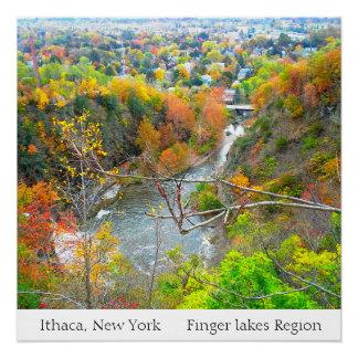 ITHACA NEW YORK FINGER LAKES REGION poster