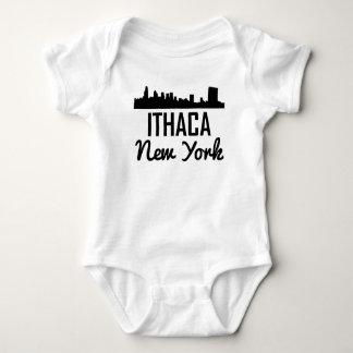 Ithaca New York Skyline Baby Bodysuit