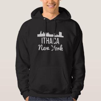 Ithaca New York Skyline Hoodie