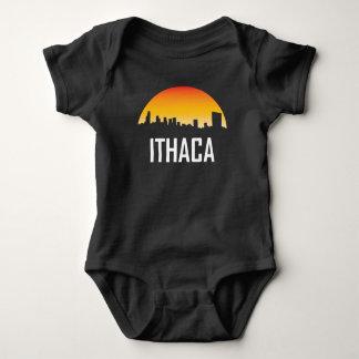 Ithaca New York Sunset Skyline Baby Bodysuit