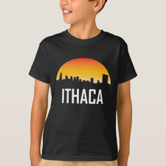 Ithaca New York Sunset Skyline T-Shirt