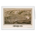 Ithaca, NY Panoramic Map - 1882 Card