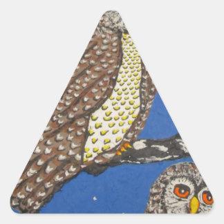 IThe Watchers Of The NightMG_0248.JPG Triangle Sticker