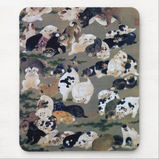 Itō Jakuchū, Itoh it is young 冲, hundred dog Mouse Pad