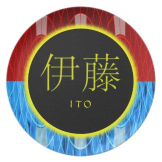 Ito Monogram Fire Ice Plates