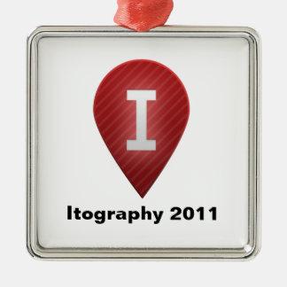 Itography 2011 Silver-Colored square decoration