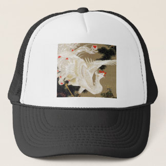Itoh it is young 冲 'the old pine tree white 鳳 trucker hat