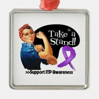 ITP Awareness Take a Stand Christmas Ornaments