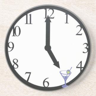 Its 5 o clock somewhere martini clock happy hour coaster