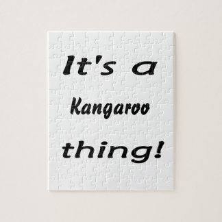 It's a a kangaroo thing! jigsaw puzzle