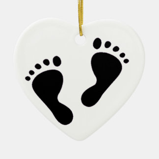 It's a Baby - Baby Feet Ceramic Ornament