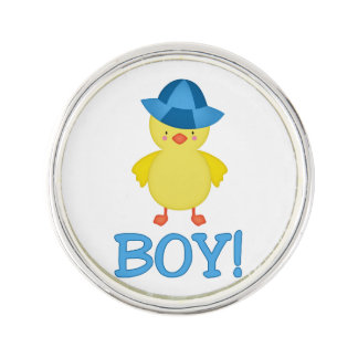 It's A Baby Boy Duckie Blue Hat Lapel Pin