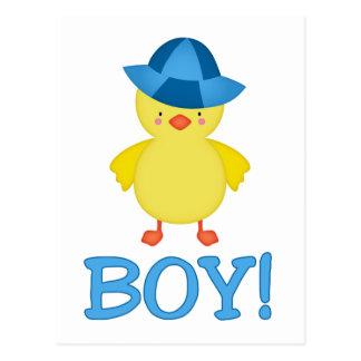 It's A Baby Boy Duckie Blue Hat Postcard