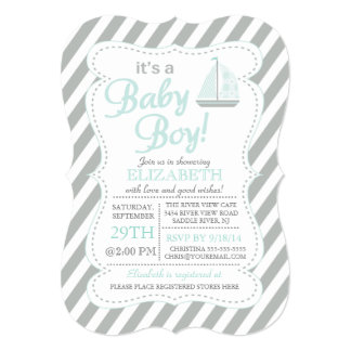 It's a Baby Boy Sailboat Nautical Baby Shower Announcements