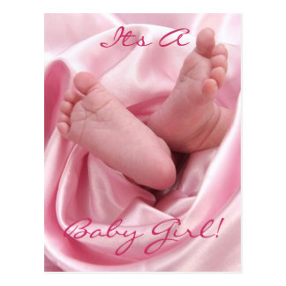Pink Baby Feet Thank You Cards Invitations cards & More