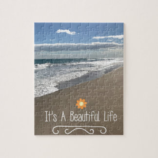 Its A Beautiful Life at the Beach Jigsaw Puzzle
