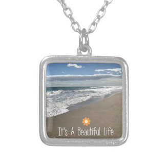 Its A Beautiful Life at the Beach Silver Plated Necklace