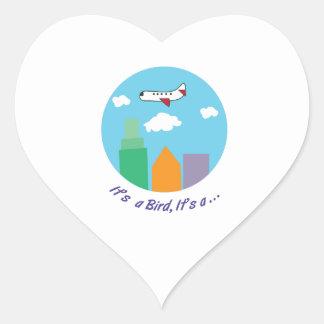 Its A Bird Heart Sticker