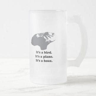 It's a bird. It's a plane. It's a Hoax Coffee Mug