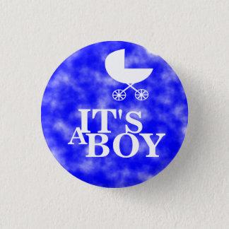 It's a boy! 3 cm round badge