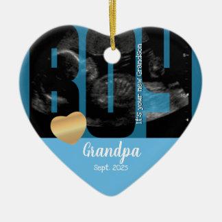 It's a Boy Announcement - Sonogram with DIY Text Ceramic Ornament