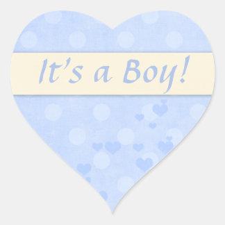 It's a Boy! Baby Announcement Heart Sticker