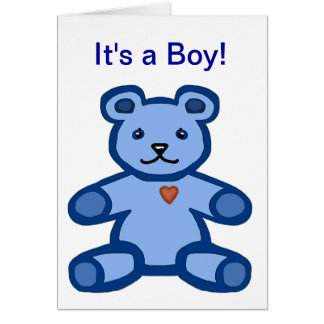 It's a boy - baby congratulations and welcome stationery note card