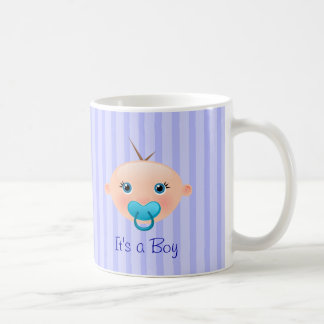 It's a Boy Baby Face Blue - Mug