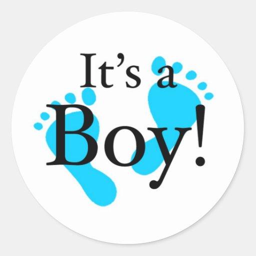 Its a Boy - Baby, Newborn, Celebration Round Sticker