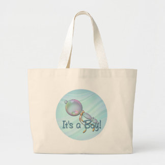 IT'S A BOY BABY RATTLE by SHARON SHARPE Canvas Bag