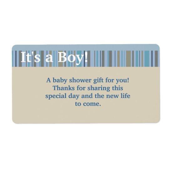 It's a Boy, Baby Shower Favour Labels