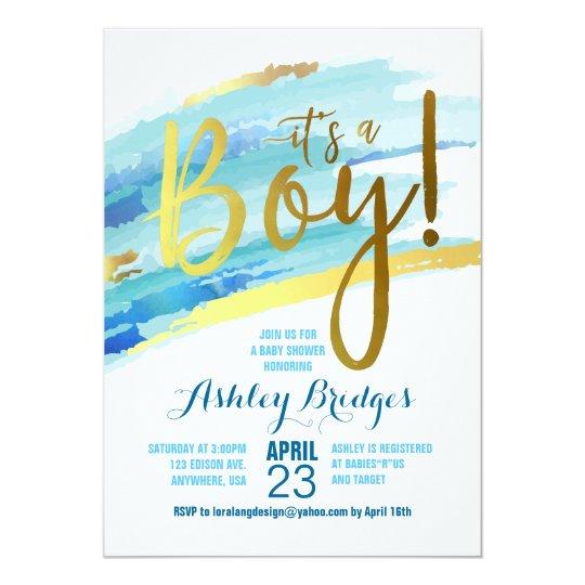 Its a boy baby shower invitation zazzle its a boy baby shower invitation filmwisefo