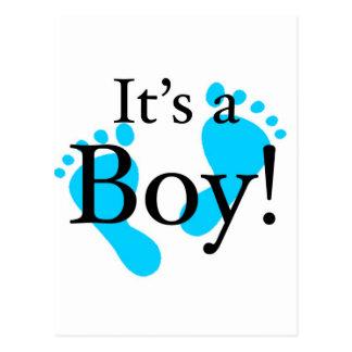 It's a Boy! - Baby-shower Newborn Postcards