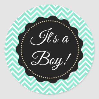 It's a Boy! Baby Shower Sage Green Stickers