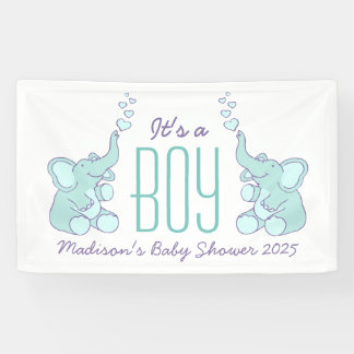 Its a boy baby shower signage banner