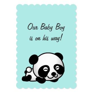 Itu0026#39;s A Boy Baby Shower | Sweet Happy Panda On Blue Card