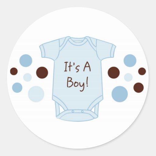It's A Boy Baby Stickers Envelope Seals