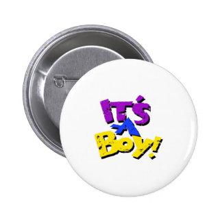 Its A Boy Pinback Buttons