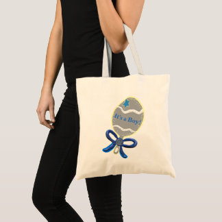 It's a Boy Blue Baby Rattle Tote Bags
