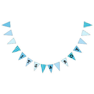 Its a Boy, Blue Baby Shower Flag Banner