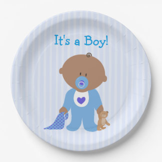 It's a Boy Blue  Baby Shower Paper Plate 9 Inch Paper Plate
