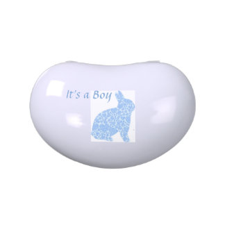 It's a Boy Blue Bunny Baby Shower Favors Jelly Belly Tins