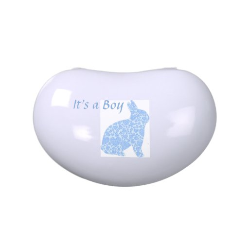It's a Boy Blue Bunny Baby Shower Favors Candy Tin