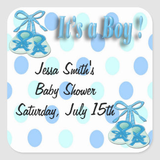 It's a Boy - Booties Shower Favor stickers