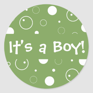It's a Boy! Bubbles Envelope Sticker Seal