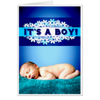 'It's a boy!' card
