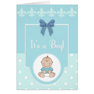 It's A Boy Congratulations New Baby Card