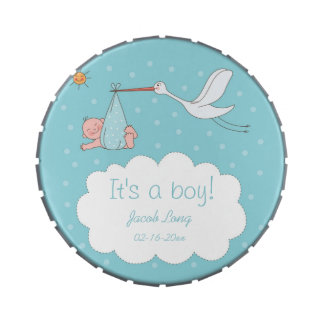 It's a Boy!  Cute Baby Shower Jelly Belly Tin