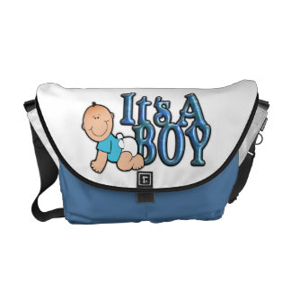 It's a Boy Diaper Bag with Baby Boy Courier Bag