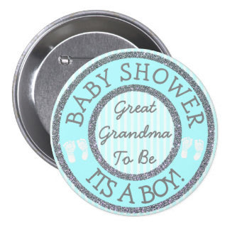 It's a Boy, Grandma to be Baby Shower Button